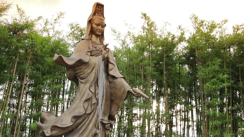 Guan Yin Statue In The Bamboo Garden. Stock Footage Video 10017416 |  Shutterstock