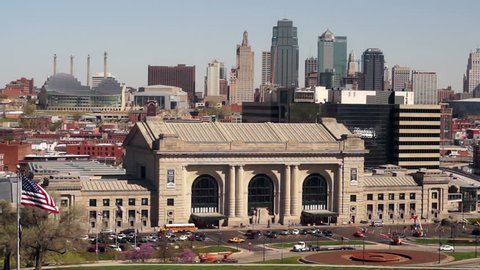 Union Station and the Kansas City Skyline in America's Heartland the USA in Missouri