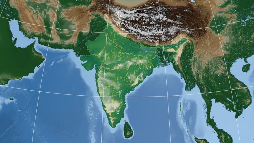 Goa extruded on the physical map of india rivers and lakes shapes bihar state extruded on the physical map of india rivers and lakes shapes added gumiabroncs Image collections