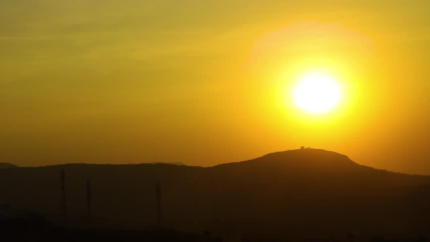 Time Lapse Sunset Pune, India