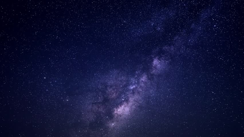 MILKY WAY GALAXY TIME LAPSE. Mojave Desert California, Galaxy horizon panoramic view at night time, cleat skies in good weather. Full HD. #1006571146