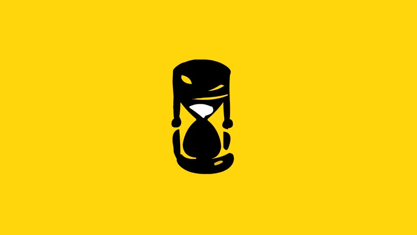 Hourglass icon (seamless loop animation)