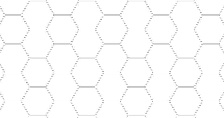 Loopable background from mesh with hexagons. Can be used as infographic background | Shutterstock HD Video #1006705066