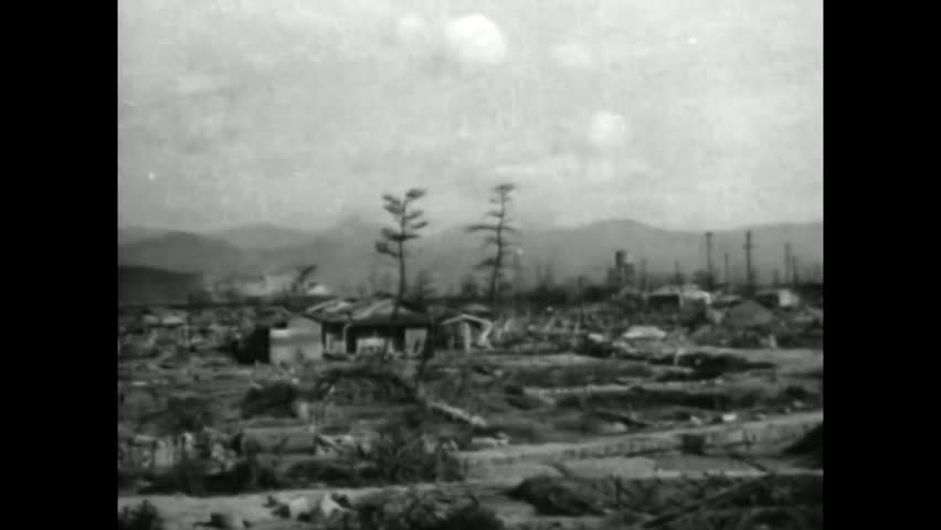 CIRCA 1940s - The people of Hiroshima begin rebuilding after the devastion of the atomic bomb explosion in 1945.