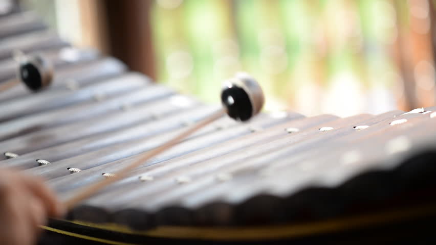 Xylophone Thai traditional music instrument