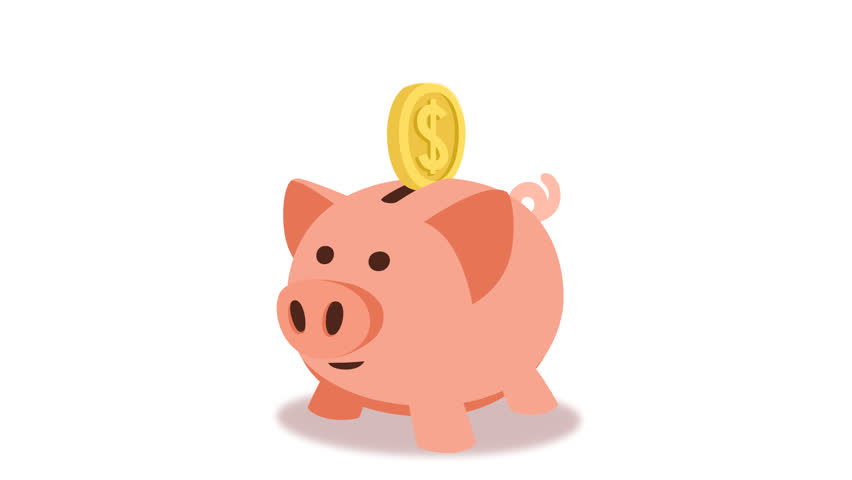 Animated Piggy Bank Concept Cartoon Stock Footage Video ...