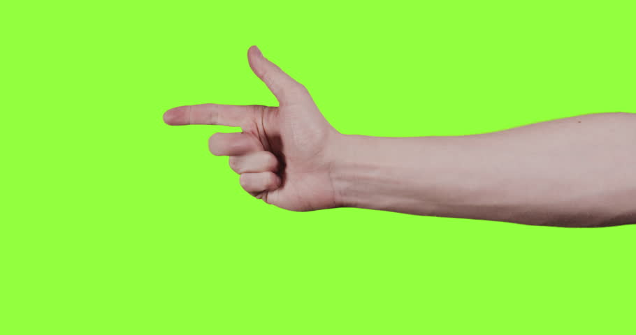 Adult young man hand counting one to five over green screen | Shutterstock HD Video #1006825336