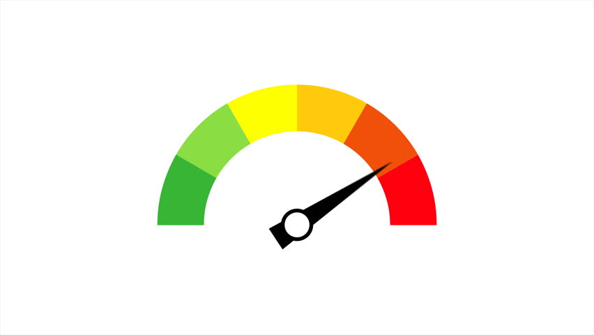 Speedometer icon animation with optional luma matte. Alpha Luma Matte included. 4k video