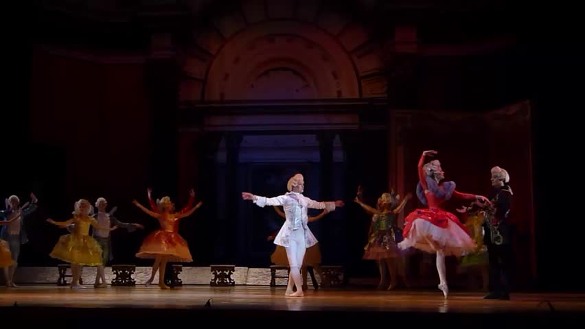 DNiPRO, UKRAINE - JANUARY 7, 2018: Night before Christmas ballet  performed by Dnepropetrovsk Opera and Ballet Theatre ballet.