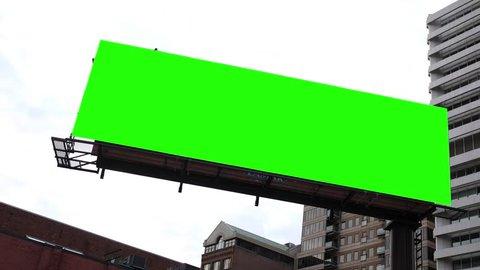 Green Screen billboard comp in urban metropolitan city area
