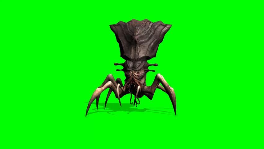 Spider alien monster creatur walks animation - green screen | Shutterstock HD Video #1006925566