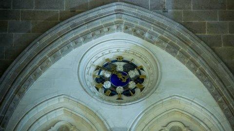 Timelapse of a church clock by night (Basilica Saint-Nicolas, Nantes, France)