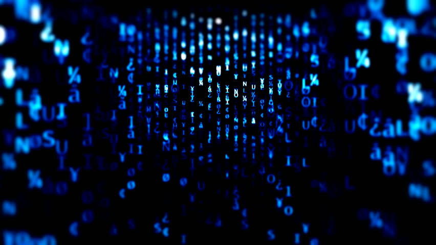 Digital binary data scan background #1007311486