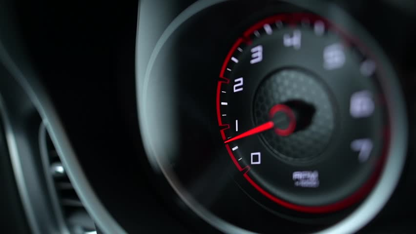 Sporty Car Dashboard Instruments. Rounds Per Minute Display. Modern Vehicle Dash Informations. | Shutterstock HD Video #1007313916