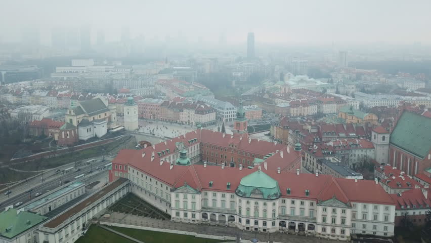Aerial view of Warsaw
