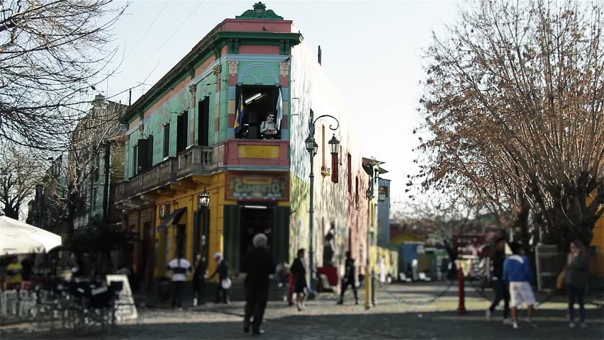 "Caminito Street (""Little Walkway"" or ""Little Path""), in La Boca Neighborhood, Buenos Aires (Argentina)."