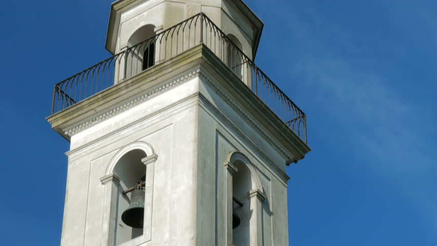 Steeple of the Basilica of the Holy Sacrament in the historic centre (a Unesco World Heritage site) of Colonia del Sacramento, Uruguay