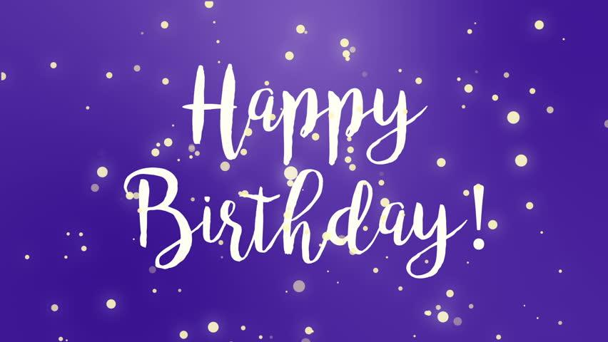 Admirable Purple Happy Birthday Greeting Card Stock Footage Video Personalised Birthday Cards Petedlily Jamesorg