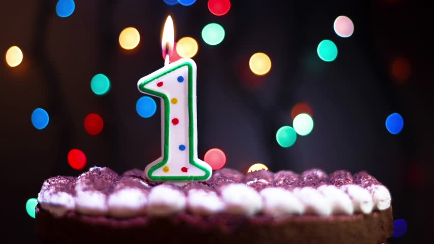 Birthday Greetings Colorful Candles Number Fifteen Growing Up Stop MotionCountdown Change The NumbersColorful Bokeh