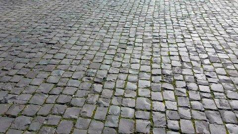 Cobblestones Ground in Rome, Italy - 4K Video