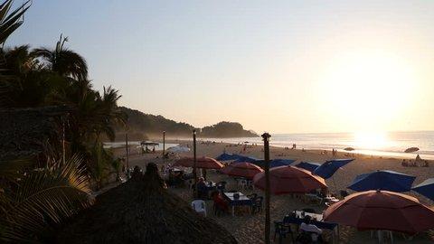 Sunset at Playa San Pancho, Nayarit, Mexico