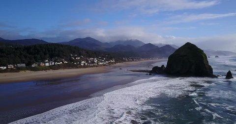 Haystack Rock - Cannon Beach, Oregon by Drone