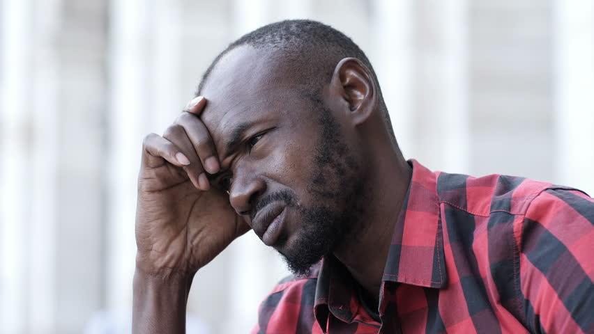 Image result for black man stressed