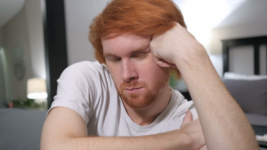 Redhead Sleeping Couch