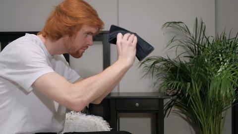 No Money in Wallet, Gesture by Redhead Man