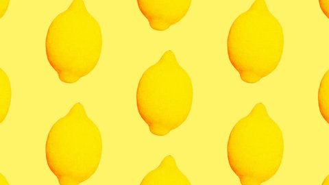 Minimal Motion art. Lemon background