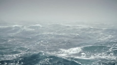 Typical seascape view during north stormy sea