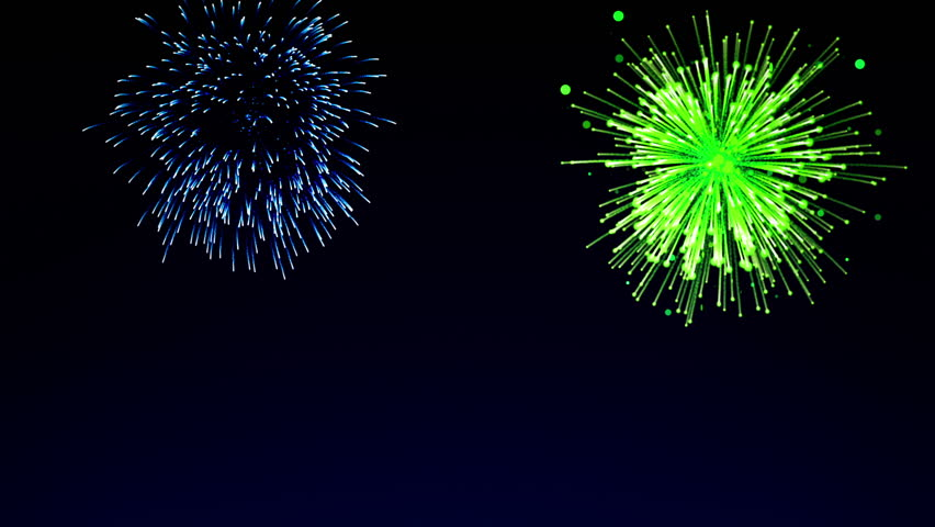 Colorful Fireworks Against A Nighttime Sky Stock Footage Video ...