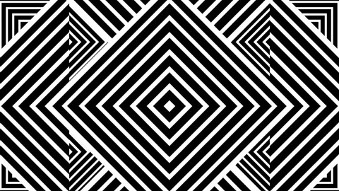 Black and white animated background featuring a seamless pattern of multiple triangle shapes. Perfect for masks,  overlays, mapping textures or as an elegant Art Deco background.