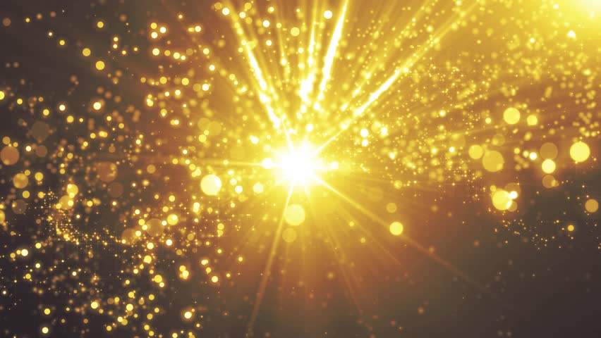 Gold light shine particles bokeh, holiday concept. Christmas animated golden background with circles and stars. Space background. Seamless loop. | Shutterstock HD Video #1008201496