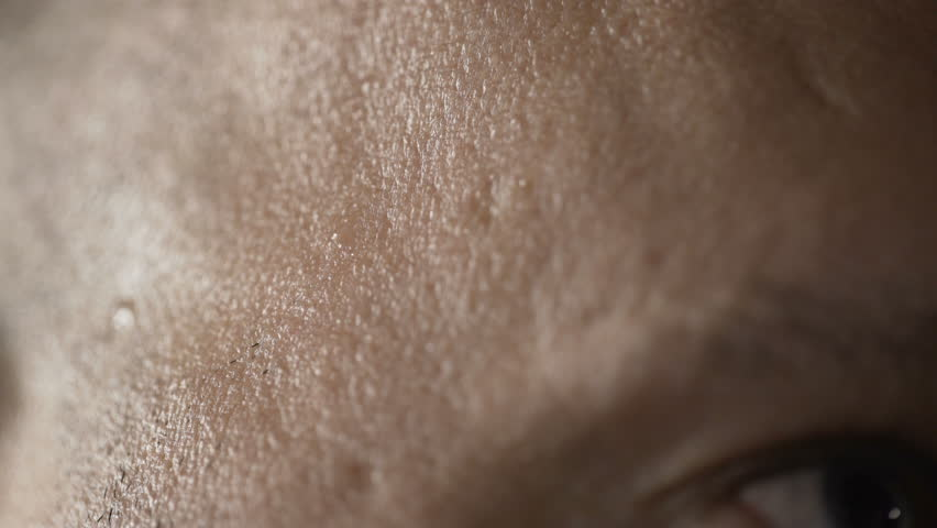A drop of sweat on his face. | Shutterstock HD Video #1008232876