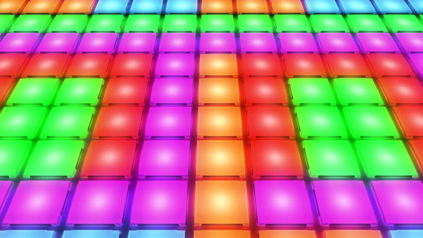 Colorful Disco nightclub dance floor LED dancing wall glowing light grid dancefloor musical background vj seamless loop club animation   Shutterstock HD Video #1008256186