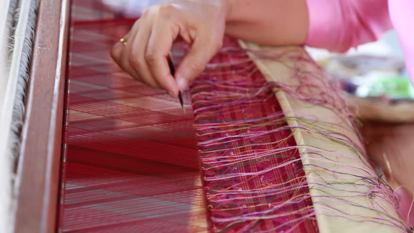 Close up asian woman hand make art fabric craftman object in Thai traditional style  | Shutterstock HD Video #1008262756