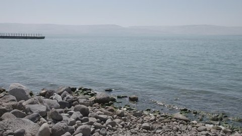 Sea of Galilee, panning shot, June 7, 2017.