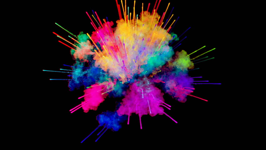 Firework Of Paint, Explosion Of Stock Footage Video (100