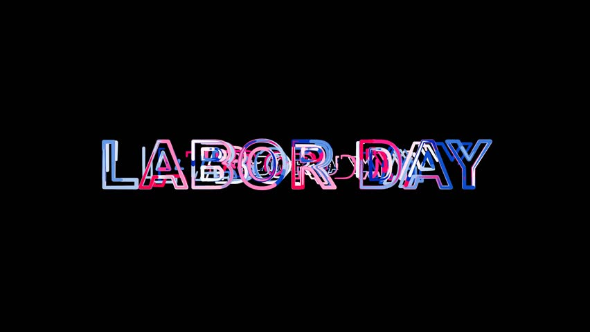Letters are collected in celebration LABOR DAY, then scattered into strips. Alpha channel Premultiplied - Matted with color black   Shutterstock HD Video #1008504286