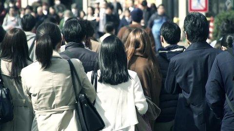 business walking Tokyo