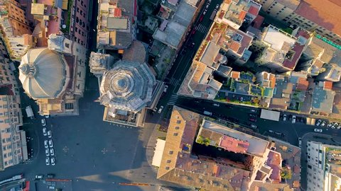 Aerial view of Rome, Italy