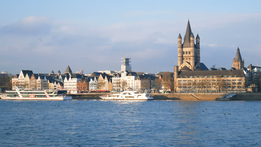 Beautiful views of Cologne, Germany | Shutterstock HD Video #1008797666