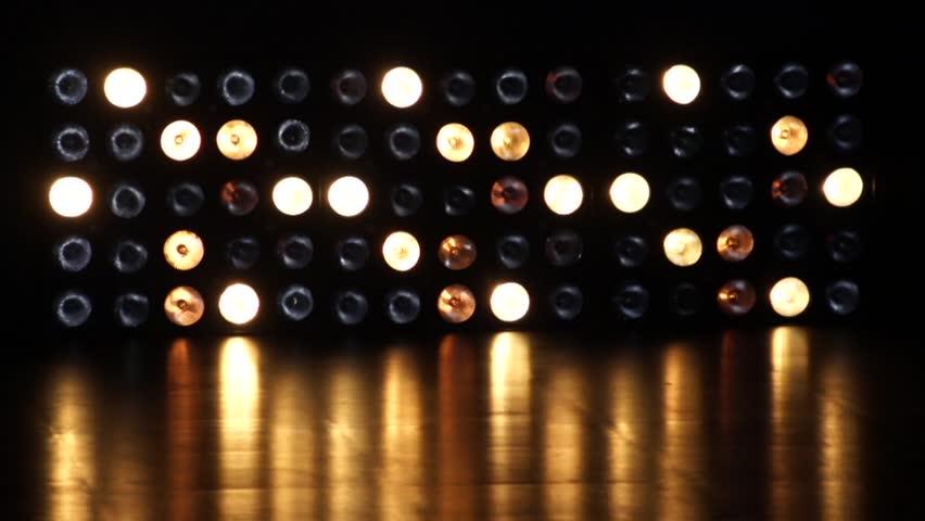 Flashing lights in the wall of light Flashing Lights Bulb Spotlight Flood lights Arrow Vj Led Wall Stage | Shutterstock HD Video #1008801116