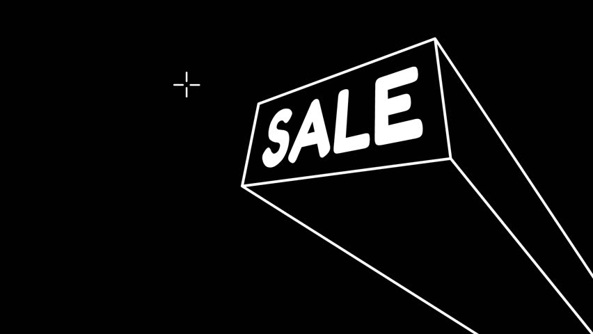 Sale. looping video footage for projection mapping on wall