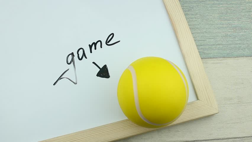 Hashtag game and tennis ball | Shutterstock HD Video #1008900266