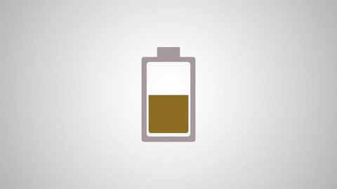 Rechargeable battery symbol HD animation
