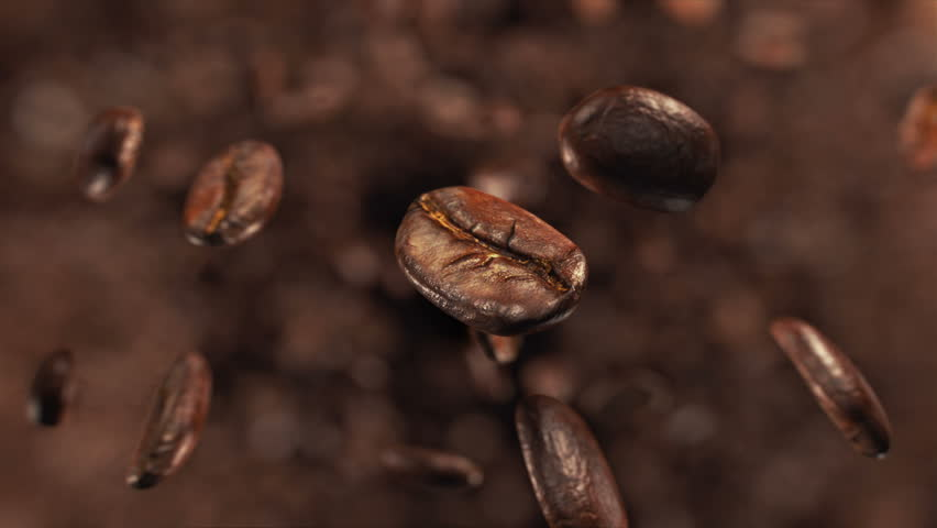 Coffee beans explosion in super slow motion 4K | Shutterstock HD Video #1008928676