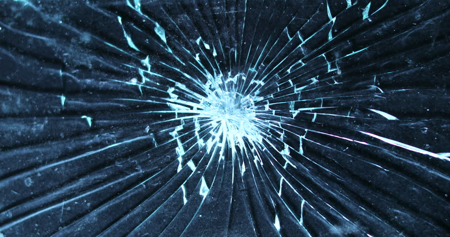Shattering glass screen with a hammer. Breaking and cracking screen on grunge background in 4K | Shutterstock HD Video #1008946946