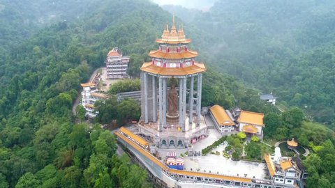 Kek Lok Si Temple in Penang island, Malaysia. Kek Lok Si Temple is a Buddhist temple situated in Air Itam in Penang facing the sea and commanding an impressive view,largest Buddhist temple in Malaysia
